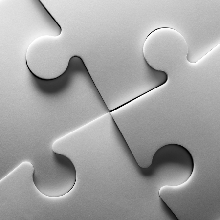 puzzle background: Background of jigsaw puzzle. In BW Stock Photo