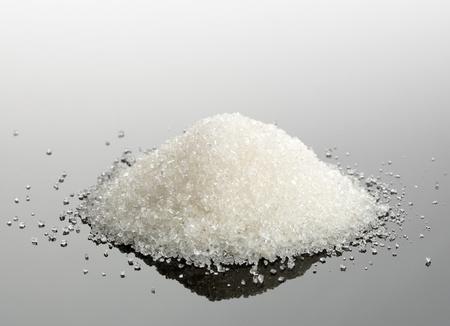 granulated: Macro view of sugar crystals pile Stock Photo