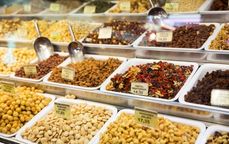 Assorted nuts in local market photo
