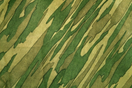 Closeup of camouflage pattern. Background or texture photo