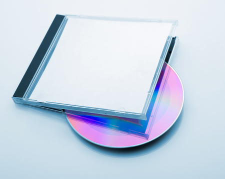 CD Box with disc on white  photo