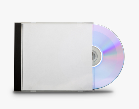 jewel case: CD in the open box  on white