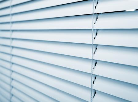 window shade: White plastic window blinds close studio shot