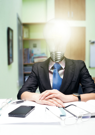 resolved: Idea comes unexpectedly. Resolved problem Stock Photo