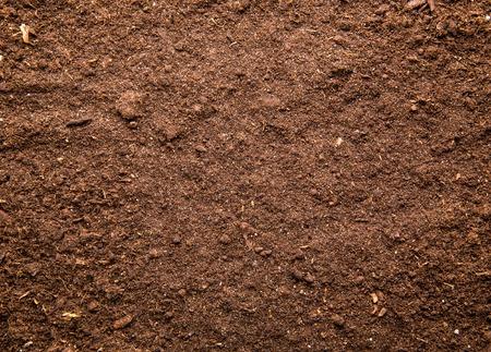 soil conservation: Fresh brown soil background Stock Photo