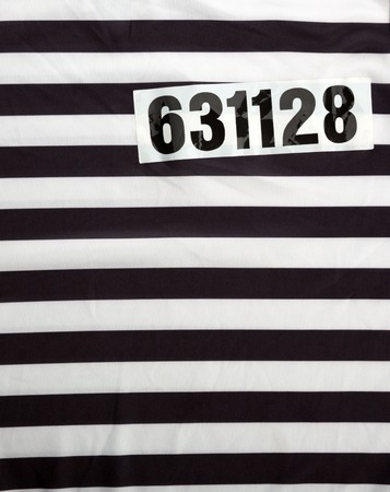 restrictions: Striped dress for prisoners and number