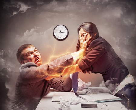 High stress fight in office photo