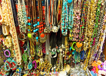 bead jewelry: Natural stone jewelry counter in Thailand