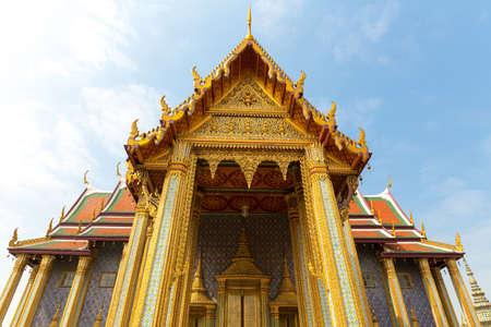 ornately: Ornately decorated temple roof  (Wat Po , Thailand)