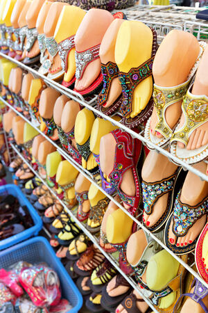 plimsoll: Colorful shoes for sale, Bangkok Thailand
