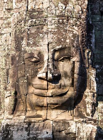 bayon: Stone face of Bayon temple in Angkor Thom, Cambodia