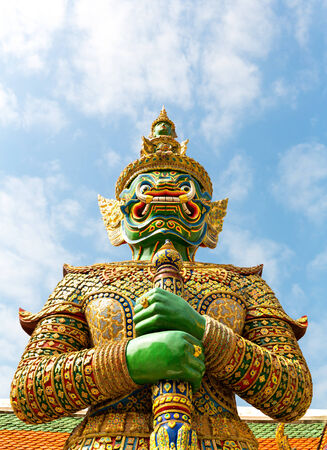 Guard statue in Wat Po Temple, Thailand photo