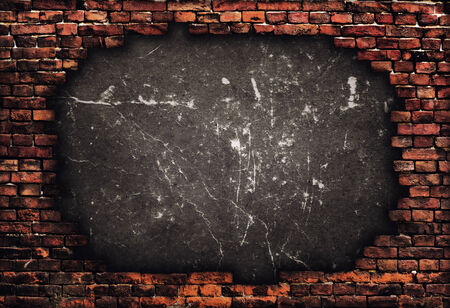 broken house: Old brick wall. Grunge background
