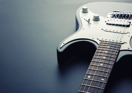 tilting: Modern electric guitar. Toned image