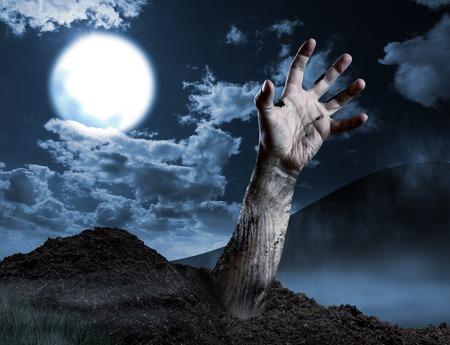 Resultado de imagen para mano que sale de una tumba
