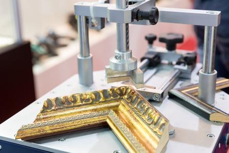 making a fire: Photo frame making tools closeup Stock Photo