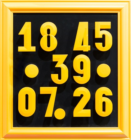 Collection of colorful numbers closeup photo