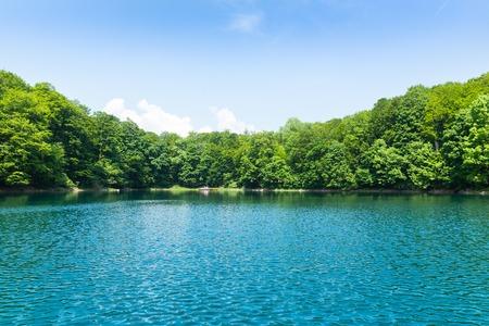Beautiful view of Biograd lake, Montenegro at sunny day photo