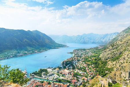 montenegro: View of harbor. Kotor, Montenegro