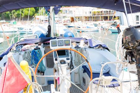 Interrior of a small yacht photo