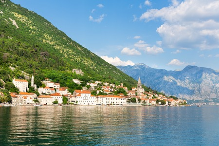 View of Perast town, Montenegro photo