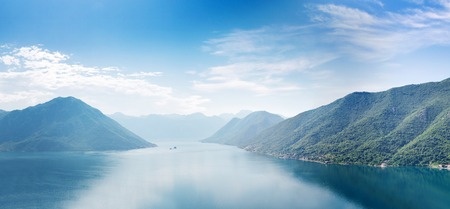 Boka-Kotor Bay, Montenegro. Panoramic view photo