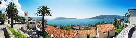 Panoramic view from Herceg-Novi city to Boka-Kotor Bay, Montenegro photo