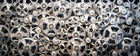Contexte d'engrenages et de roues dentées en métal 3d