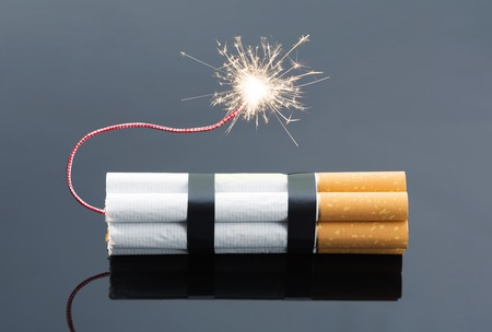 explosives: Explosives from cigarettes with sparks