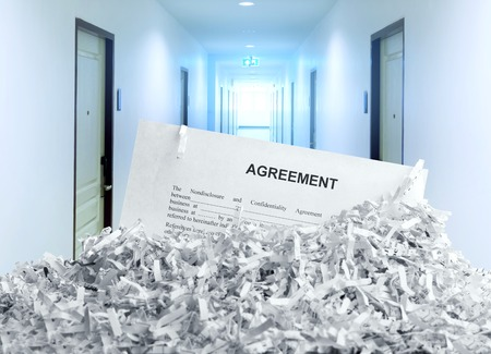 Shredded agreement in the office photo