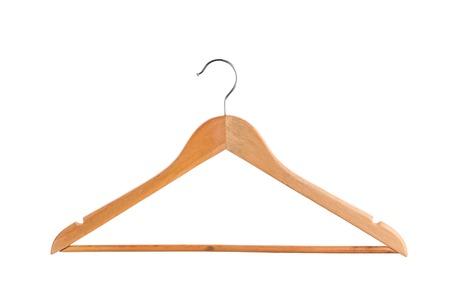 coathanger: Hanger for coat isolated on white background Stock Photo
