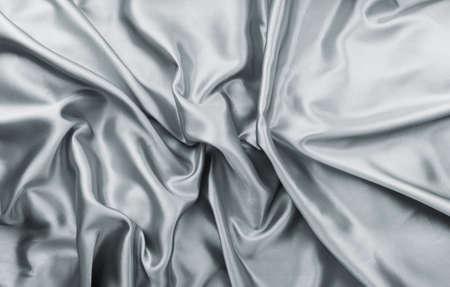 rumple: Beautiful elegant grey rumple satin fabric Stock Photo