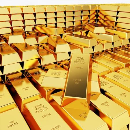 splendour: Lots of gold bars in the depot