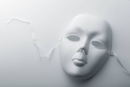 showpiece: Closeup of a face mask Stock Photo