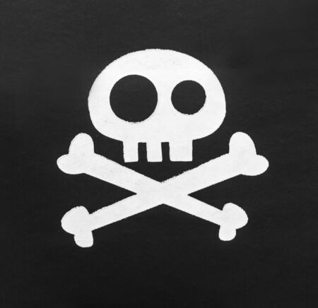 eyepatch: Macro of pirate symbol Jolly Roger