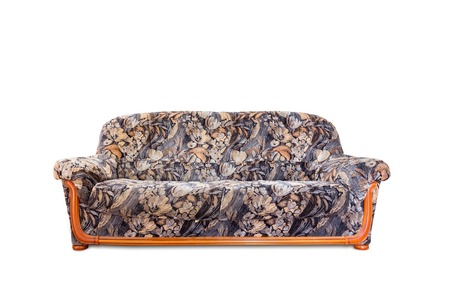 luxurious sofa: Luxurious sofa isolated on white background, front view Stock Photo
