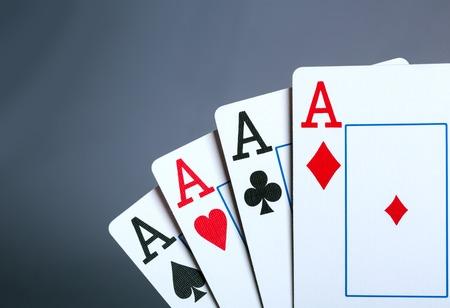 aces: Closeup of four aces. Toned image