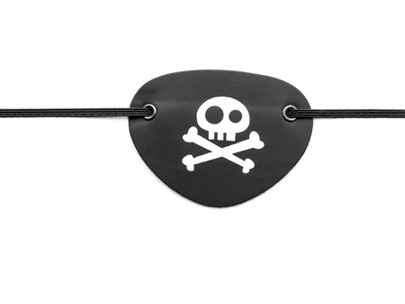 eyepatch: Closeup of pirate eyepatch on white background