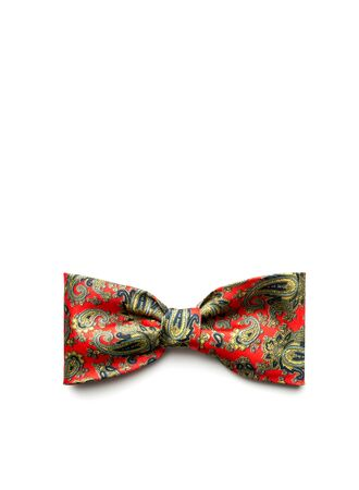 bowtie: Red bow-tie on white background