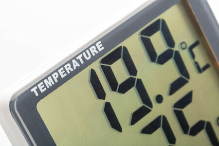 humidity: Closeup view of electronic thermometer