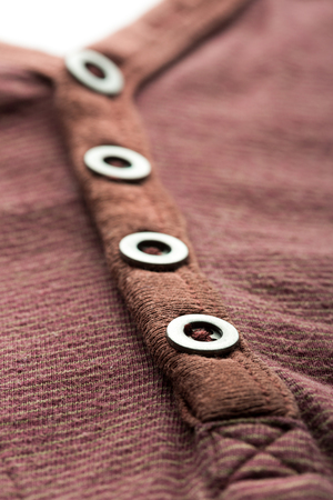 t short: Brown jacket background with buttons Stock Photo
