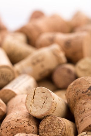 Closeup of different wine corks photo