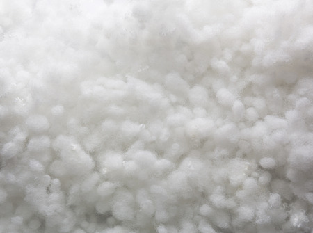 polyester: Closeup of white synthetic winterizer texture