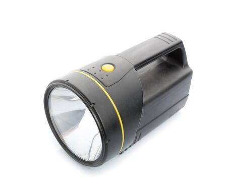 handy: Handy flashlight isolated on white