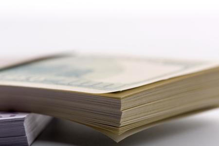 billets euro: Macro of packs of dollars and euros