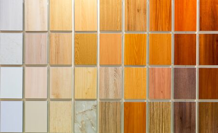 hardboard: Colorful wooden background consisting of various samples