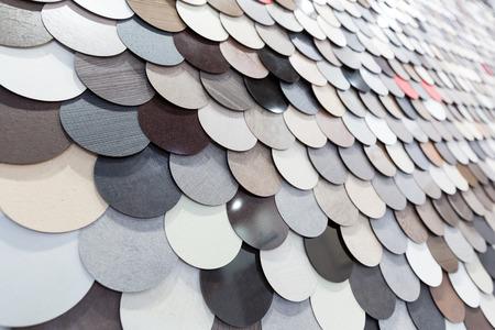 surface closeup: Abstract colorful circle surface closeup Stock Photo