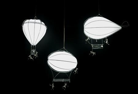 darkness: Decorative lanterns in the darkness Stock Photo