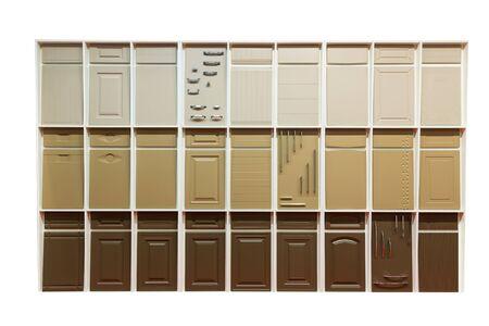 many doors: Set of various wooden doors Stock Photo