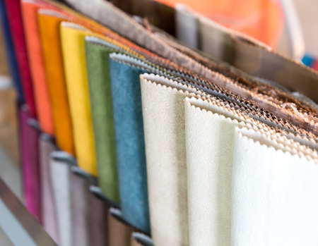 exemplary: Colorful samples of different fabrics
